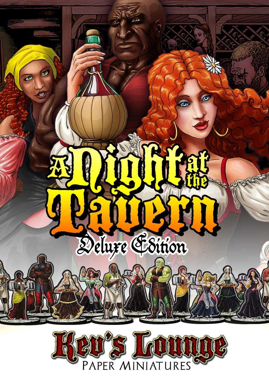 Kev's Lounge Paper Minis: A Night At The Tavern (Deluxe Edition)