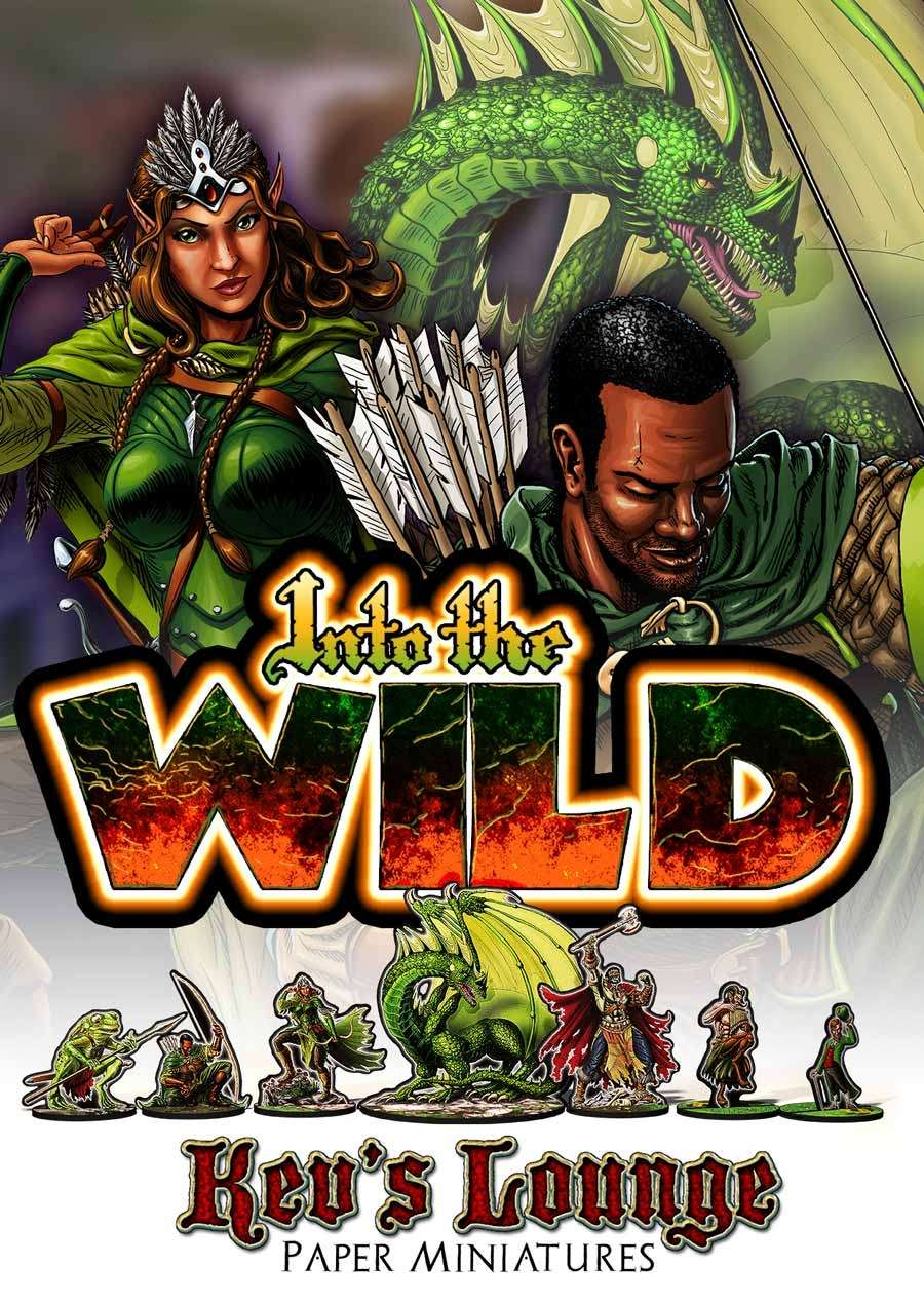 Kev's Lounge Paper Minis: Into the Wild
