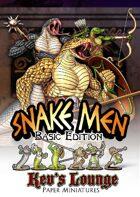 Kev's Lounge Paper Minis: Snake Men (Basic Edition)