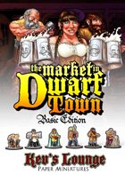 Kev's Lounge Paper Minis:The Market in Dwarf Town (Basic Edition)