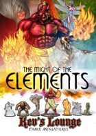Kev's Lounge Paper Minis: The Might of the Elements