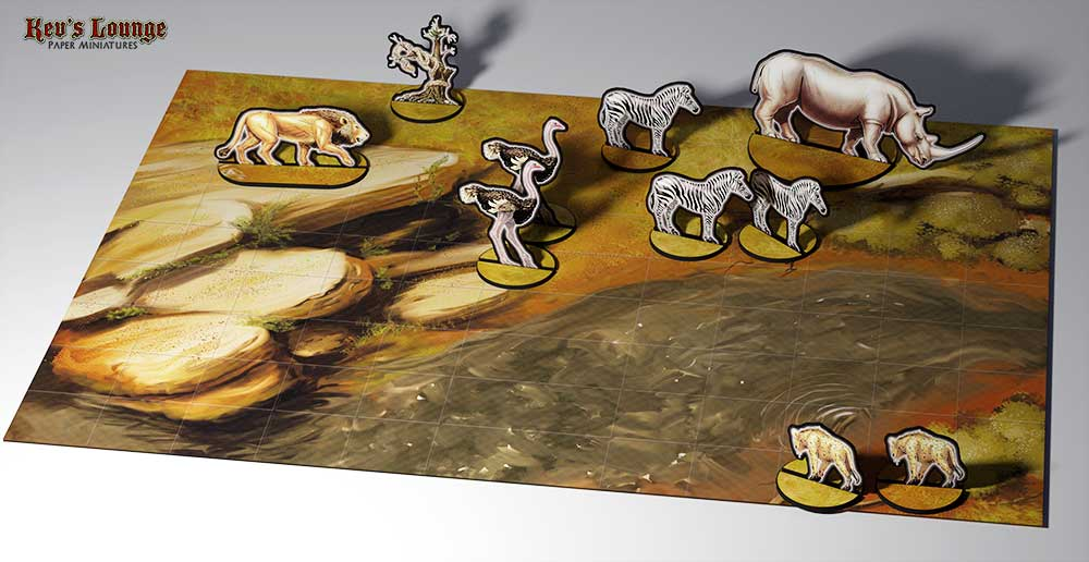 Paper Minis - Beasts of the Bushveld