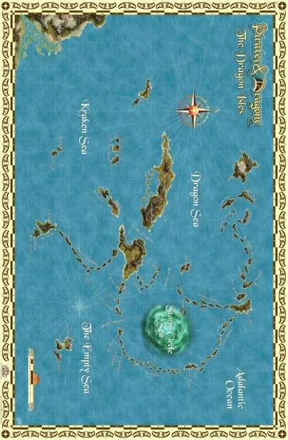 Dragon Isles Poster Map (Pirates & Dragons)