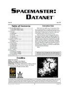 Spacemaster DataNet #8