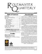 Rolemaster Quarterly #1