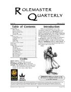 Rolemaster Quarterly #4