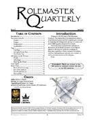 Rolemaster Quarterly #5