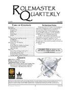 Rolemaster Quarterly #6