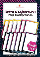 Elite Design Elements: Retro and Cyberpunk Page Backgrounds