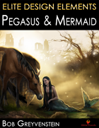 Elite Design Elements: Pegasus & Mermaid