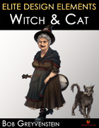 Witch with Cat Familiar