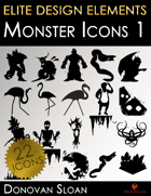 Elite Design Elements: Monster Icons 1