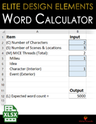 Elite Design Elements: Word Count Calculator