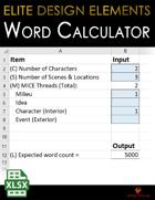 Elite Design Elements: Word Count Calculator