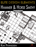 Elite Design Elements: Hammer and Horse Smithy and Stable Map