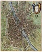 Antique Maps XXXI - Paris of the 1600's