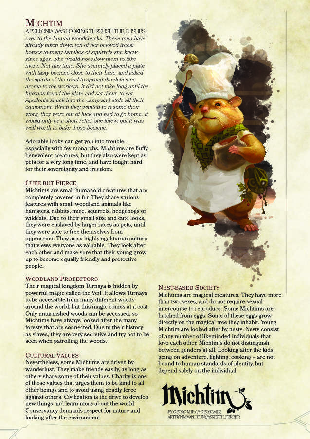 Michtim for D&D 5e - GrimOgre Laboratory | Michtim RPG
