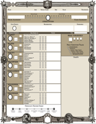ZWEIHÄNDER Grim & Perilous RPG Form-fillable Character Sheet