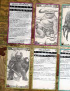 Monster Cards - ZWEIHÄNDER Grim & Perilous RPG