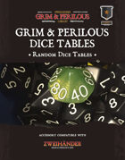 Grim & Perilous Random Dice Tables - Supplement for Zweihander RPG