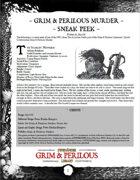 Grim & Perilous Murder (Early Access) - Supplement for Zweihander RPG