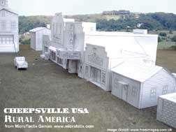 Cheepsville USA Rural America Residential cardstock buildings