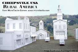 Cheepsville USA Rural America Commercial cardstock buildings