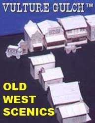 Vulture Gulch old west cardstock buildings set