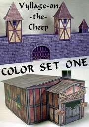 Vyllage-on-the-Cheep COLOR Buildings Set #1
