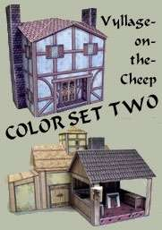 Vyllage-on-the-Cheep COLOR Buildings Set #2