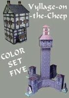 Vyllage-on-the-Cheep COLOR Buildings Set #5