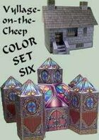 Vyllage-on-the-Cheep COLOR Buildings Set #6