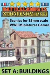 BattleLands 15mm Normandy: 1944 Set A-Buildings