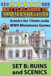 BattleLands 15mm Normandy: 1944 Set B-Ruins & Scenics