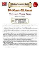DMGenie OGL Content - Taverner's Trusty Tome