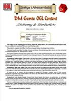 DMGenie OGL Content - Alchemy & Herbalists