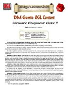 DMGenie OGL Content - Ultimate Equipment Guide II