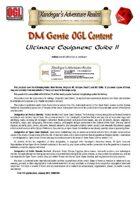 DMGenie OGL Content - Ultimate Equipment Guide II