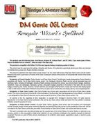 DMGenie OGL Content - Expert Player's Guide - Renegeade Wizard's Spellbook