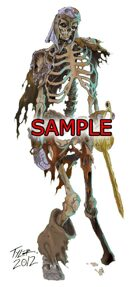 Stock Art: Skeletal Warrior