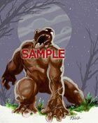 Stock Art: Black Pudding Monster
