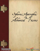 Spheres Apocrypha: Alchemical Poisons