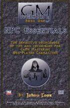 GM Mastery: NPC Essentials