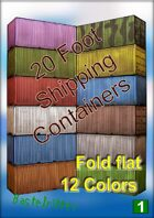 20 foot Standard Container - Fold flat