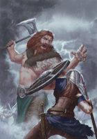 """Lema Stockart #23: Cover image """"Berserker vs Battle Maiden"""""""