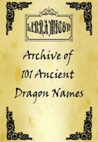 Libramicon - Archive of 102 Ancient Dragon Names