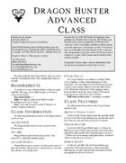 Dragon Hunter Advanced Class