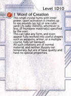 1 Word Of Creation - Custom Card