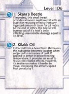 1. Skara's Beetle - Custom Card