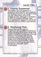 1. Gravity Suspensor - Custom Card